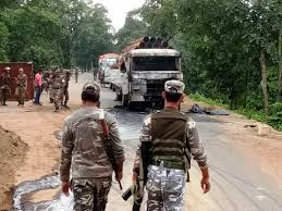 Maoists Attack: Set vehicles on fire involved in road construction in Jharkhand's Gumla district